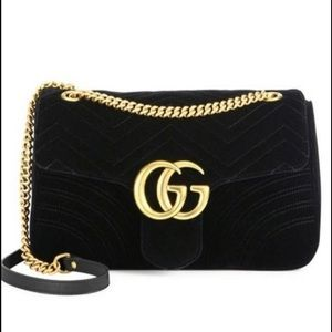 21ae2bf6a223 New GG Marmont Medium Quilted Shoulder Bag